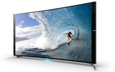 Sony Bravia S9: новые 4К-телевизоры с изогнутыми экранами