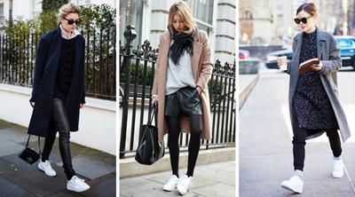 С чем носить: белые кроссовки
