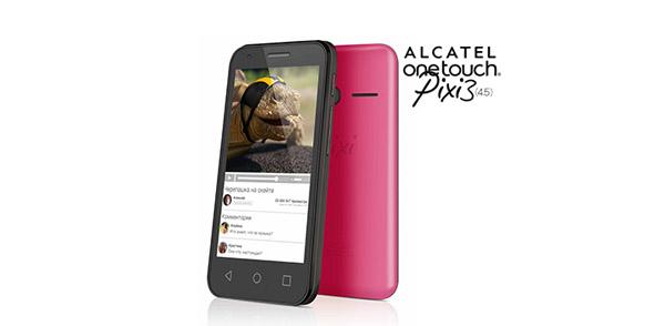 Смартфон Alcatel Onetouch Pixi3 (4.5) за 3990 рублей